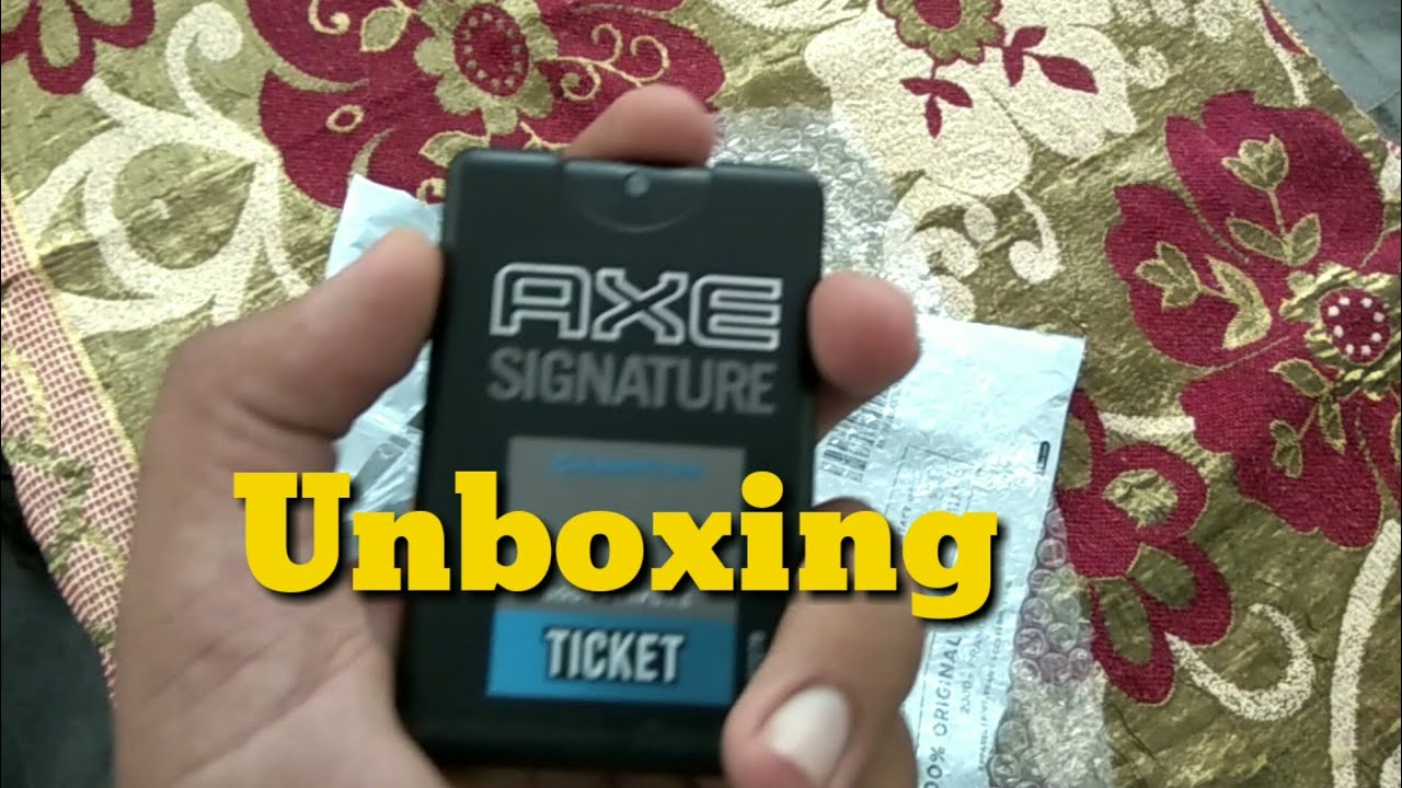 Axe Signature Body Spray Unboxing on Mobile | New Unboxing Video 2018 | Axe  Signature Mobile 2018 |