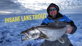 Ice Fishing for LAKE TROUT  on Fort Peck - Crazy Good Fishing #laketrout