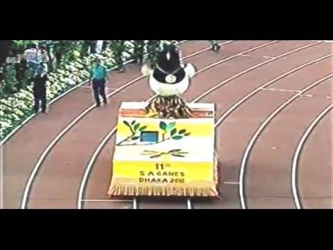Opening Ceremony of 11th South Asian(SA) Games, Dhaka-2010 (Full Video)