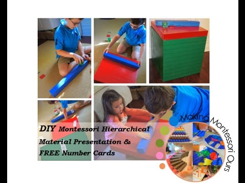 Making Montessori Ours,  Hierarchical Materials At Home