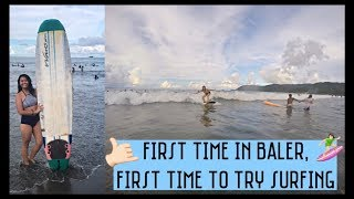 First time in Baler, first time to try surfing!! | Raechelle Jimenez