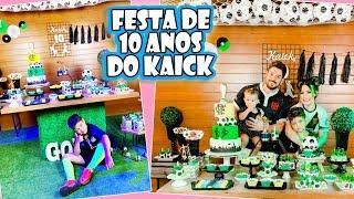 FESTA DE 10 ANOS DO KAICK - FUTEBOL | Kathy Castricini