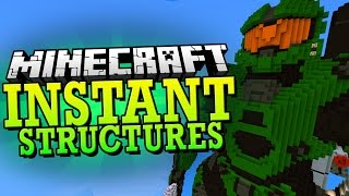 Minecraft Mod | INSTANT STRUCTURES MOD (170+ Structures to Pick From) - Minecraft Mod Showcase