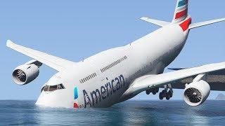 Realistic Boeing 748 Runway Overrun Emergency Landing - GTA 5