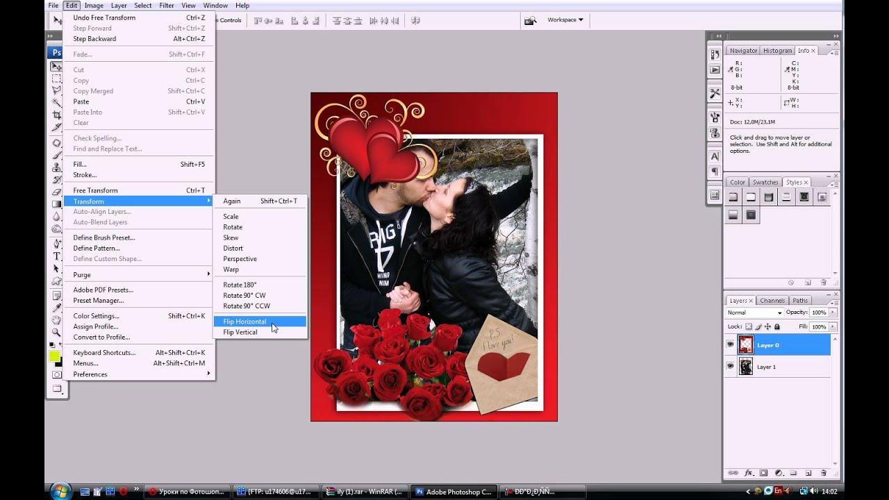 Bigbad.ru - как вставить фото в рамку в фотошопе - YouTube