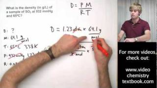 Ideal Gas Law Practice Problems with Density