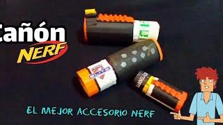 cañon nerf/silenciador casero/cannon nerf/ cañon casero/fácil de hacer