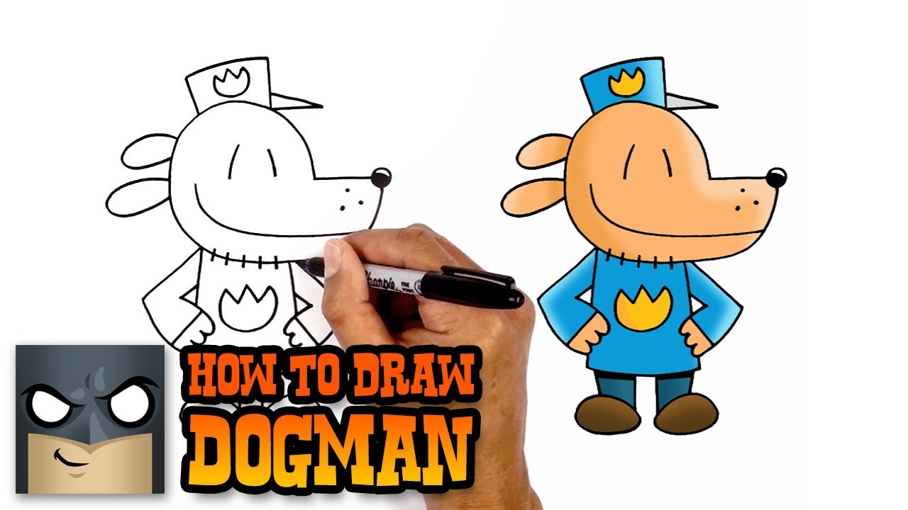 how to draw dog man