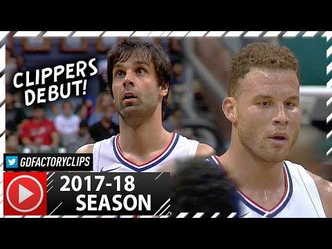 Milos Teodosic Debut & Blake Griffin Full PS Highlights vs Raptors (2017.10.01) - TOO GOOD!