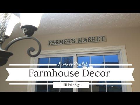 Farmhouse Decor   DIY Pallet Sign