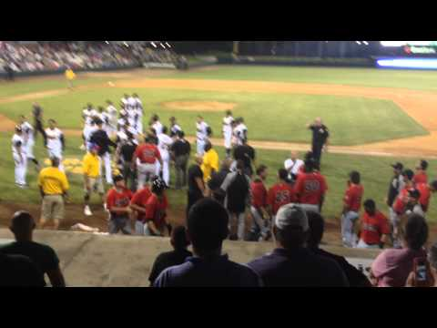 Jacksonville Suns vs Birmingham Barons bench clearing brawl
