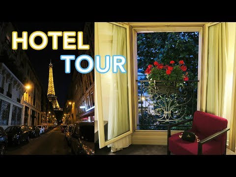 Paris Hotel Next to Eiffel Tower! Derby Alma Hotel Room Tour