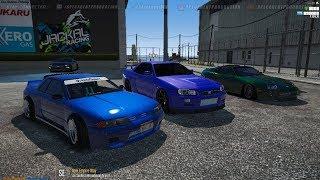 GTA 5 FiveM SARP | Hoonigan Car Meet, Cruising, Getting Into Illegal Stuff, & Got Arrested