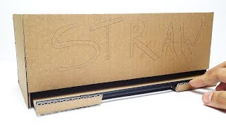 How to Make Straw Dispenser from Cardboard at Home Easy DIY