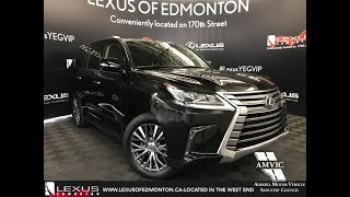 Lexus Certified Pre Owned Black 2016 LX 570 Executive Package Review Edmonton Alberta
