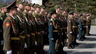 Построение личного состава и слушателей факультета военного обучения