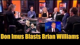 Don Imus BLASTS NBC's  Brian Williams for being a Lying Coward!