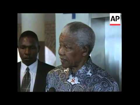 SOUTH AFRICA: NELSON MANDELA LOCKERBIE PRESS CONFERENCE