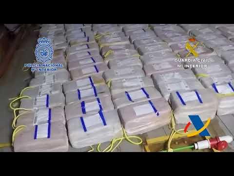 Alijo de 3.800 kilos de cocaína aprehendido a Miñanco en octubre