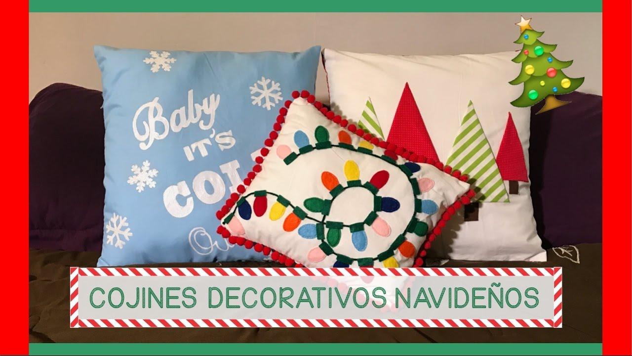 Cojines decorativos navide os 3 ideas s per f ciles y - Decorativos de navidad ...