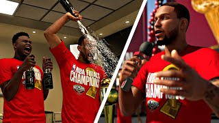 NBA 2K20 MyCAREER - NBA FINALS! CHAMPIONSHIP PARADE! RING CEREMONY! [ EP.21 ]