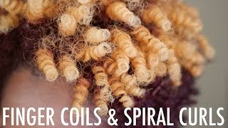 Finger Coils and Spiral Curls with Kurlee Belle | Natural Hair
