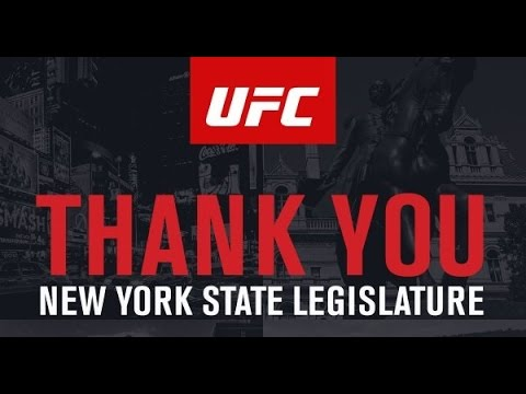 UFC EXECUTIVE MEDIA CONFERENCE CALL FOR NEW YORK MMA BILL PASSAGE