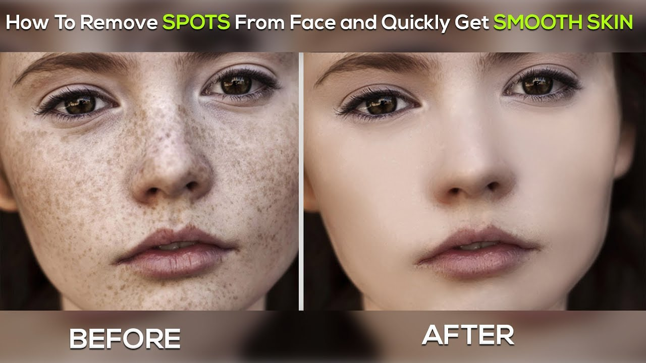 How to remove spots from face and quickly get smooth skin how to remove spots from face and quickly get smooth skin photoshop tutorial baditri Choice Image