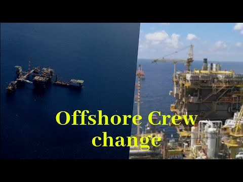 Offshore helicopter ride (Crew Change)
