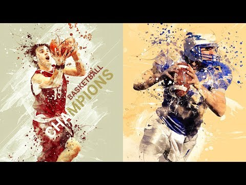 Sport Modern Art Photoshop Action Tutorial
