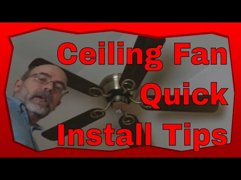 How to Install a Ceiling Fan with Light Kit - YouTube Nadair Ceiling Fan Wiring Diagram on