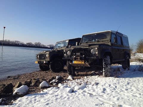 Just some Defender wintery fun near and in the water