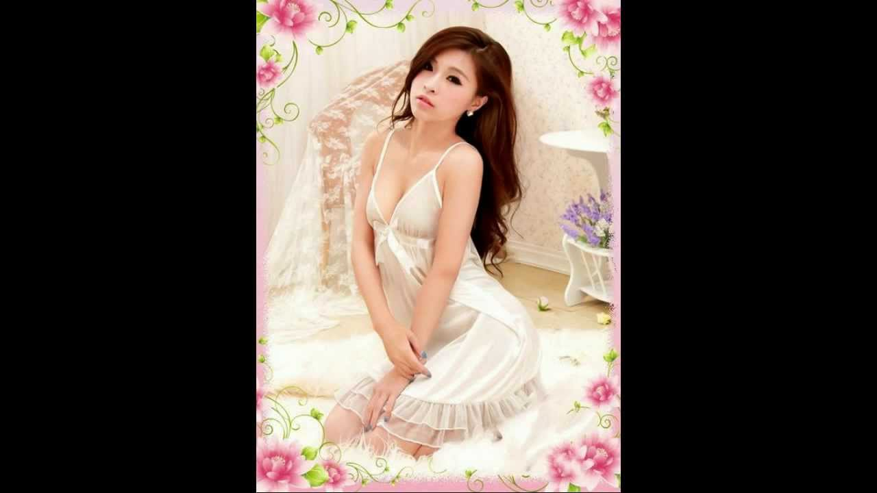 d175a685f50 VenCouture Sexy White Satin Ruffled Bridal Babydolls NightDress ...