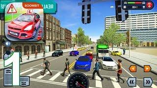 CAR DRIVING SCHOOL SIMULATOR Gameplay Part 1 - Tutorial (iOS Android) screenshot 5