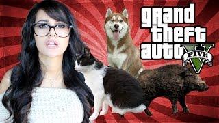 GTA 5 PS4 Fun - Playing As Animals!
