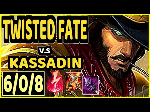 TWISTED FATE vs KASSADIN - 6/0/8 KDA MID GAMEPLAY - KR Ranked DIAMOND
