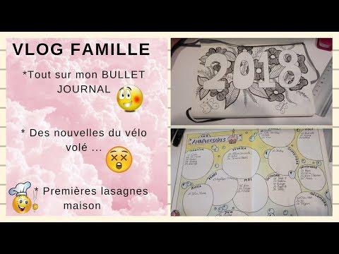 ❥40 ♡ VLOG FAMILLE ♡ Tout sur mon Bullet journal / News du vélo volé