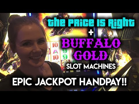 EPIC JACKPOT Handpay! Buffalo Gold!!! My Best Win EVER!!! Price is Right Showcase Wheel Bonus!
