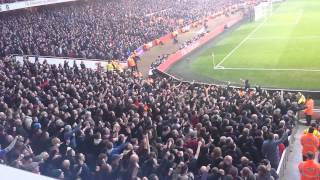 Palace fans OWNING the Arsenal fans