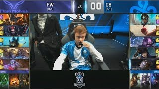 [EPIC] FW (Karsa Elise) VS C9 (Meteos Lee Sin) Highlights - S6 World Championship Group Day 3