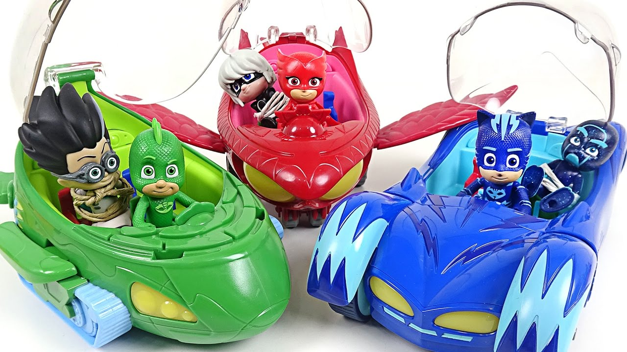 Toy Cars Toys R Us Pj Masks New Deluxe Vehicles Appear Villains Come On