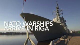 NATO warships arrive in Riga, Latvia🇱🇻