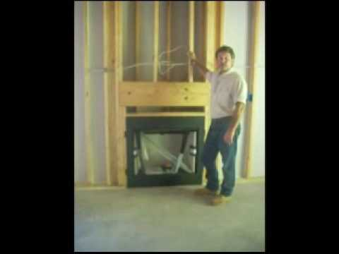 Gas Fireplace Rough In Youtube