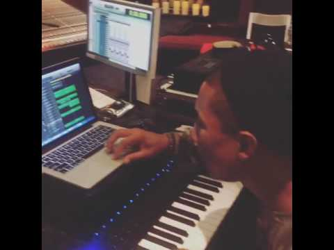 French Montana And  Pharrell Williams Studio Life