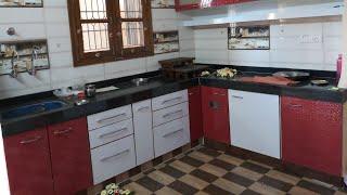 walkthrough of modular kitchen with details