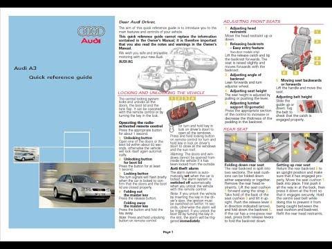 service repair manual audi youtube rh youtube com 2015 Audi A3 2011 Audi A3