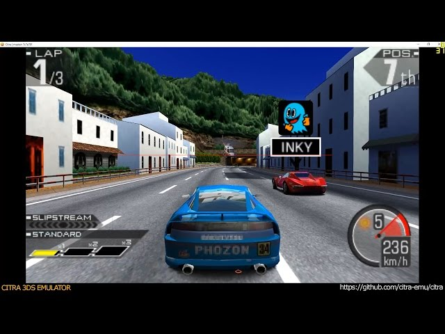Citra 3DS Emulator - Ridge Racer 3D ingame 1080p
