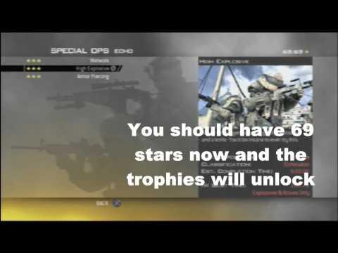 Modern Warfare 2 Spec Ops Stars Trophy Hack TUTORIAL