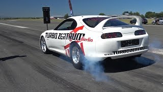 1400HP Toyota Supra Turbo - 1/2 Mile 0-322 KM/H ACCELERATION!