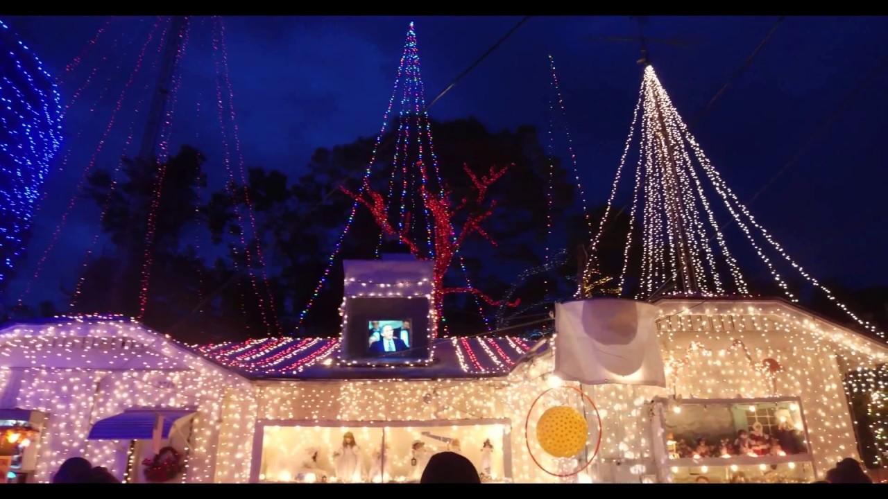 4k) Oakdale Christmas Display.ST. PETERSBURG Tampa Bay Florida 2016 ...